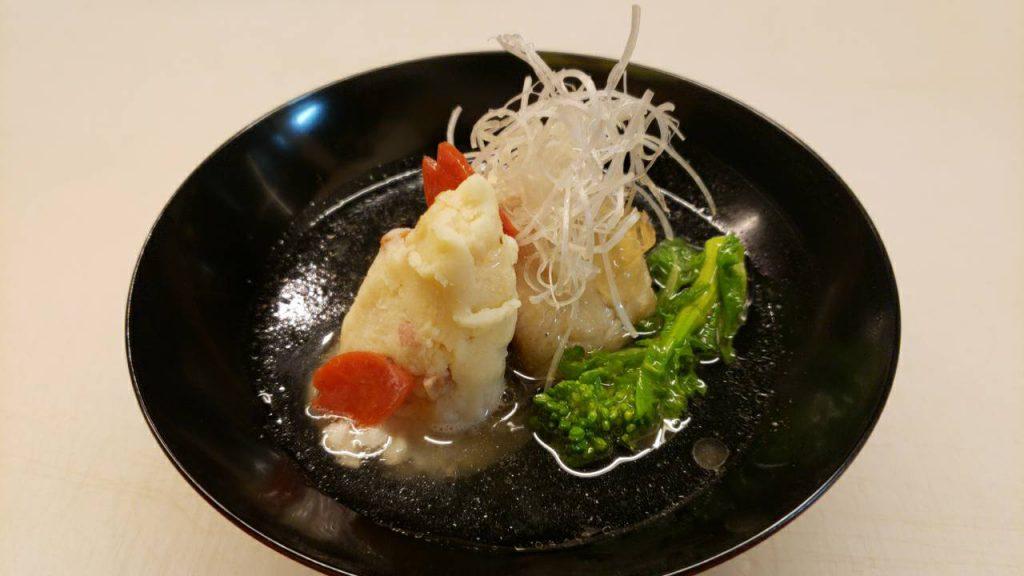 さわらの和風ポテトサラダ揚げ出し煮 (1)
